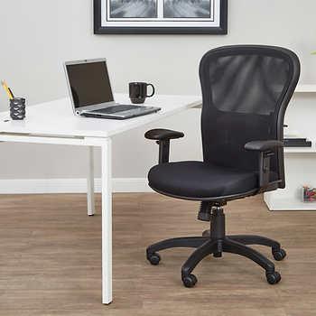 SPACE Black Mesh Screen High Back Executive Chair 12 Pk