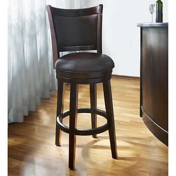 aurora 24 swivel barstool. Black Bedroom Furniture Sets. Home Design Ideas