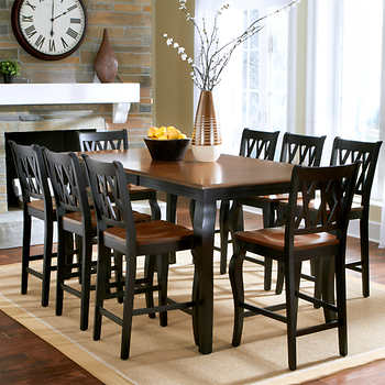 roslyn 9 piece counter height dining set