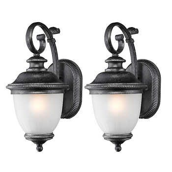 laurel designs outdoor wall light fixture weathered iron coach lamp 2