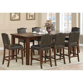 Rochester 9 piece counter height dining set - Costco dining room set ...