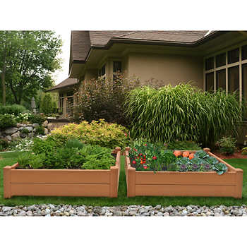 Composite Raised Garden Bed 2 Pk