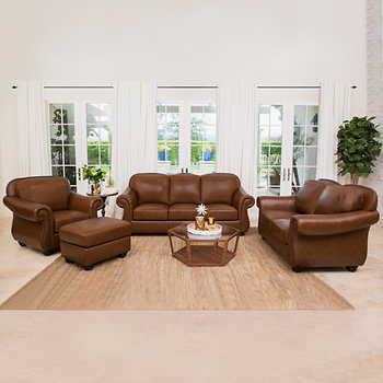 Clarke 4 Piece Top Grain Leather Set