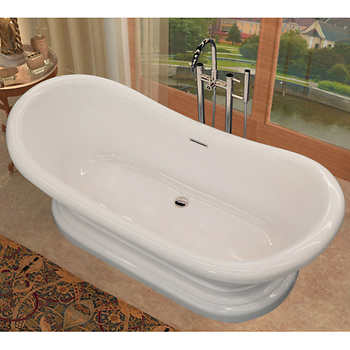 access tubs reef free standing soaker bathtub includes freestanding faucet. Black Bedroom Furniture Sets. Home Design Ideas