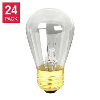 String Lights With Replacement Bulbs : Feit String Light & Sign Replacement S14 Bulbs Incandescent 2,700K Clear 24-pack