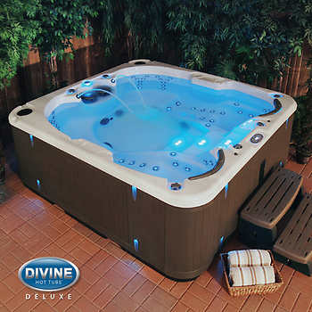 divine hot tubs deluxe dual massage 100 jet 4 person spa. Black Bedroom Furniture Sets. Home Design Ideas