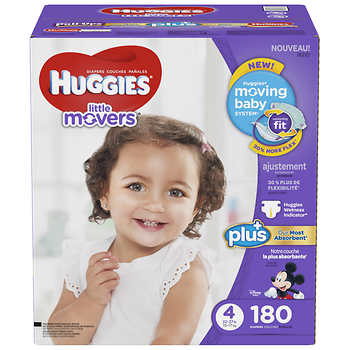huggies little movers plus diapers size 4 180ct. Black Bedroom Furniture Sets. Home Design Ideas