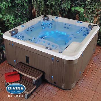 divine hot tubs deluxe ultra massage 115 jet 7 person spa. Black Bedroom Furniture Sets. Home Design Ideas