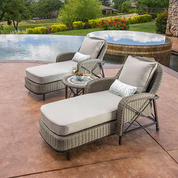 Valletta 3 piece chaise lounge set for Ava chaise lounge costco