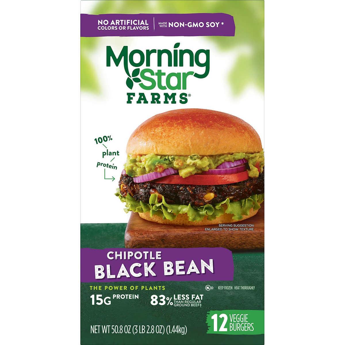 Morningstar Farms Chipotle Black Bean Burger 4 2 Oz 12 Ct