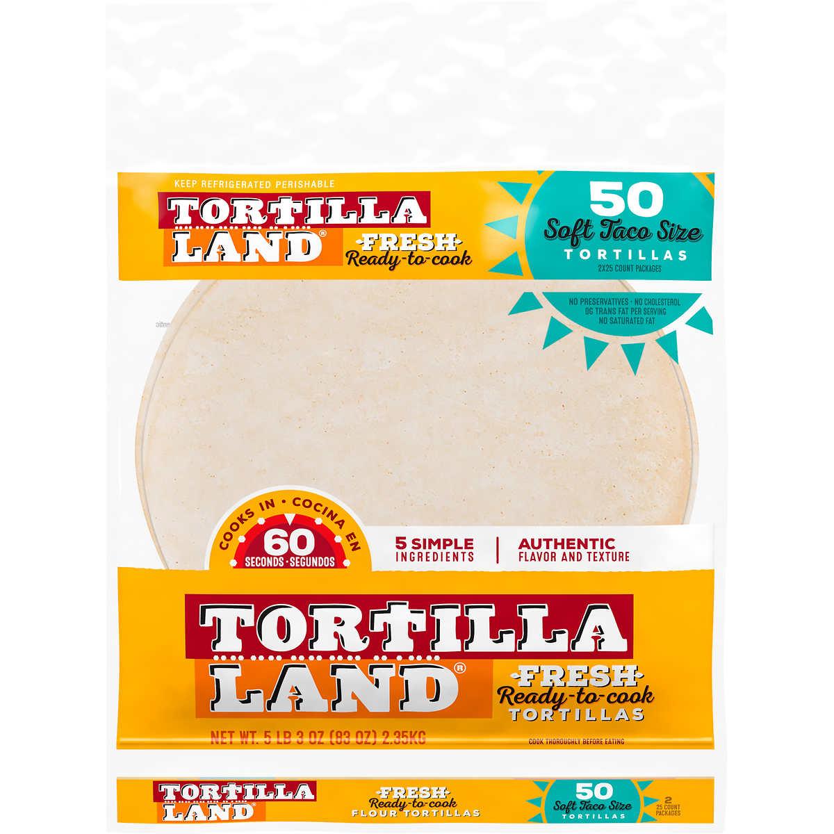 Tortillaland Flour Tortillas 50 Ct