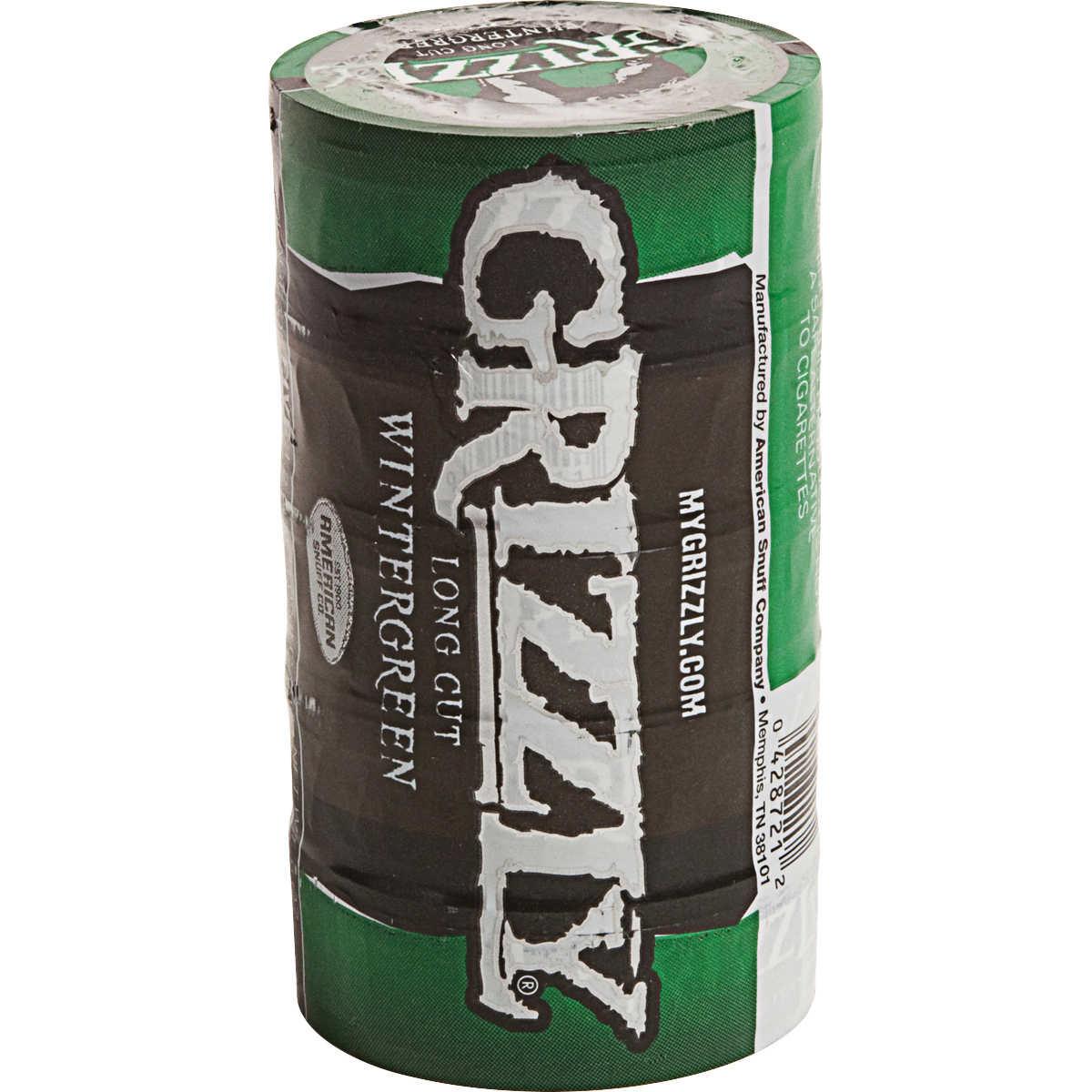 Grizzly Long Cut Smokeless Tobacco Wintergreen 1 2 Oz 5 Ct