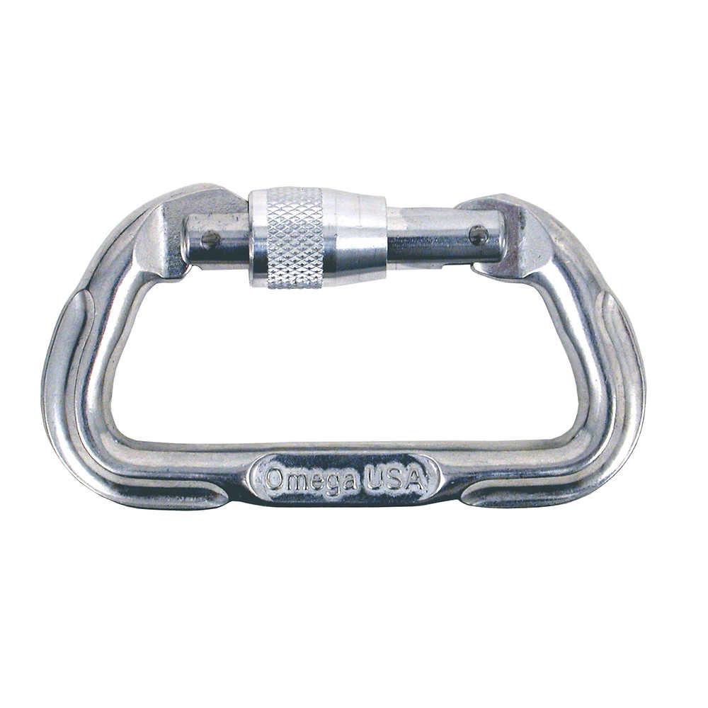 Omega Standard Locking D Carabiner