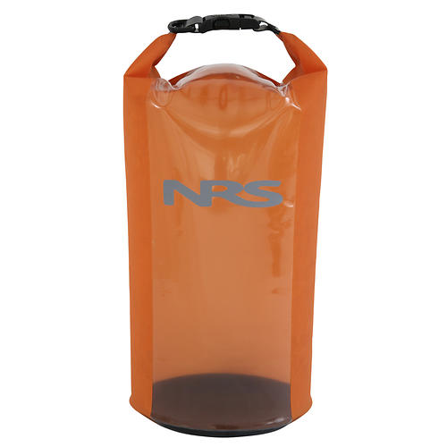 nrs hydrolock dry bag - closeout- Save 29% Off - Make double sure your stuff stays dry with NRS HydroLock(TM) Dry Bags. Our proven StormStrip roll-down closure is backed up by our waterproof HydroLock seal for 200% peace of mind.  70-denier urethane-coated nylon keeps the weight of this bag to a minimum, and the rugged material slides easily in and out of tight spots.  The durable clear urethane window makes finding items inside the bag a breeze.  The HydroLock zip seal provides a totally waterproof closure. Periodically clean the sealing surfaces and lubricate with 303 Protectant, Item # 38751.01, for ease of closure.   StormStrip(TM) closure with quick-release buckle doubles as a carry handle.  D-ring on the buckle provides a handy attachment point.  Sizes are measured fully packed and closed.