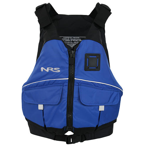 nrs vista pfd - closeout- Save 44% Off - Type III: As the name implies, your options are wide open with the NRS Vista PFD.  On a wild river or floating your favorite lake, it gives you everything you need.   7 adjustment points tighten the Vista to fit your body securely.    420-denier nylon outer shell resists snags and tears for many seasons of dedicated use.    PVC-free foam provides 16.5 pounds of flotation,in a medium profile PFD that provides all around flotation.    Two pockets with hook-and-loop closures easily hold your important accessories.    This jacket carries the US Coast Guard Certification, through testing by Underwriters Laboratories (UL).  Lash tab provides secure location for attaching a rescue knife. Also Available in Youth Sizes!