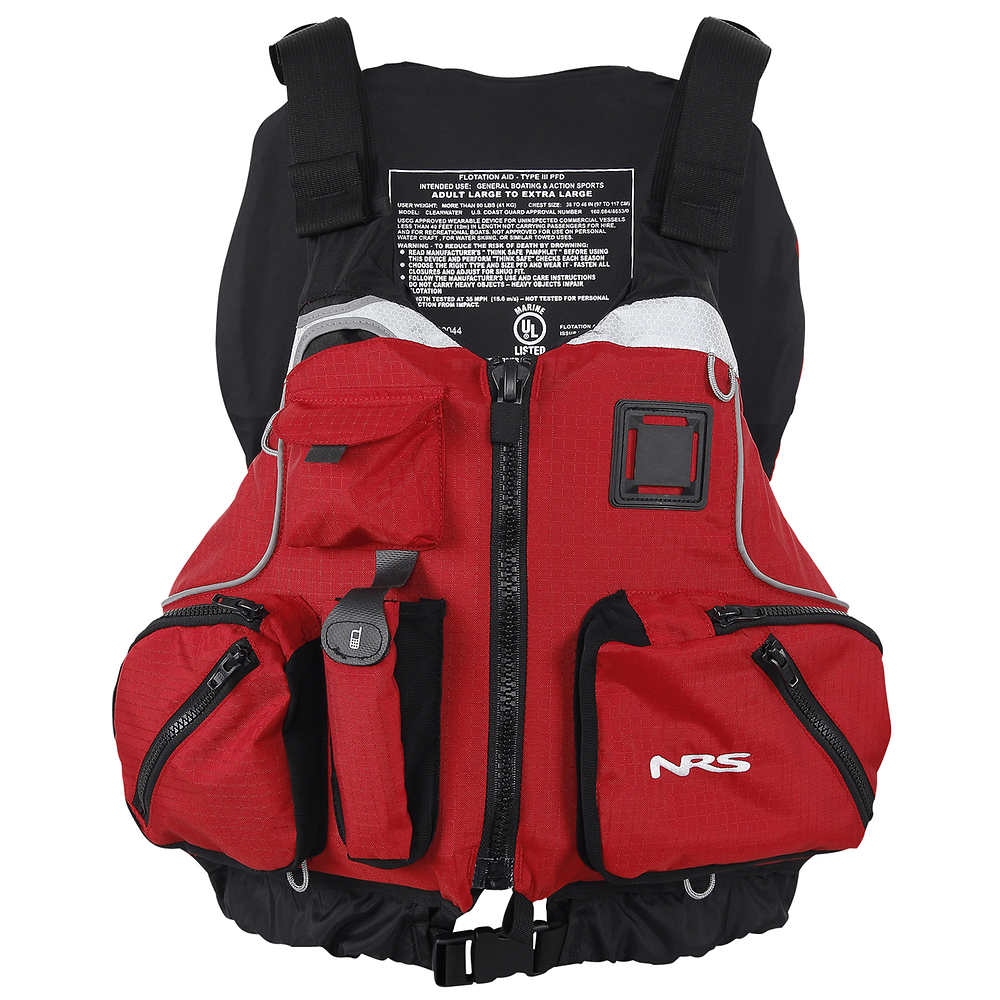 Nrs cvest mesh back pfd at for Fishing life jacket