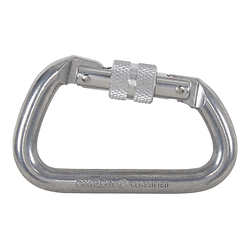 "Omega Modified D 1/2"" Aluminum Screw-Lok Carabiner"