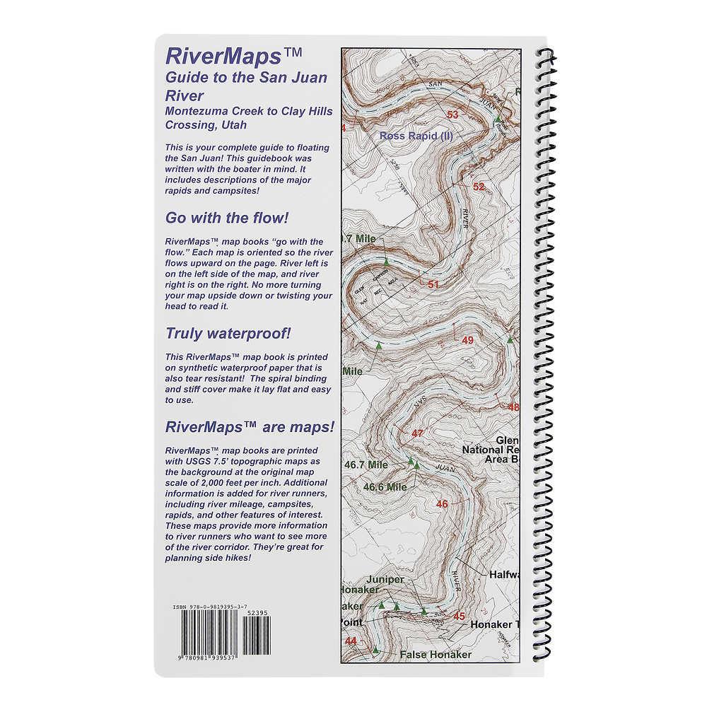 San Juan River Utah Map.Rivermaps San Juan River 2nd Edition Guide Book Previous Model At