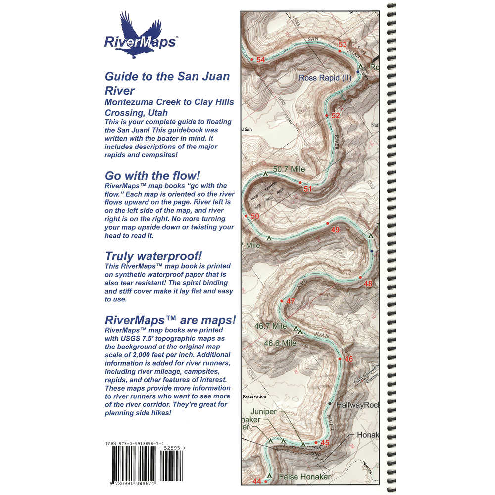 San Juan River Map RiverMaps San Juan River 3rd Edition Guide Book at nrs.com
