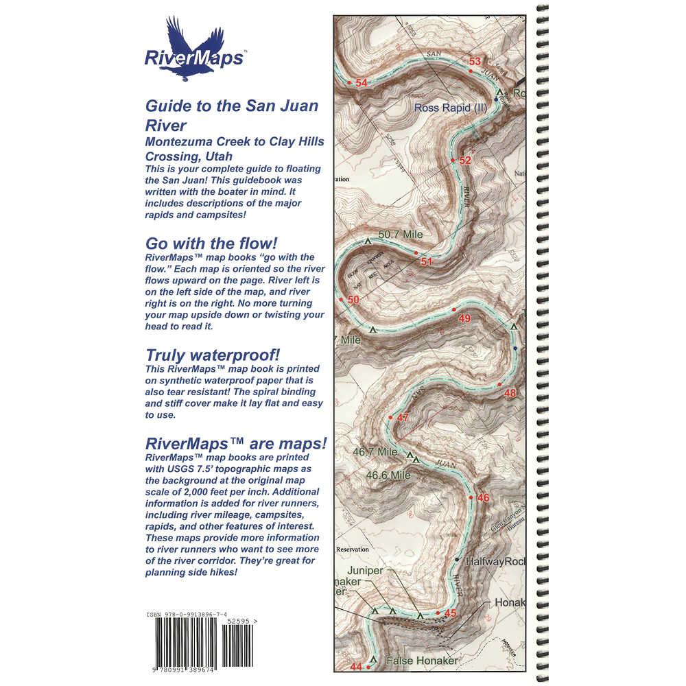 San Juan River Utah Map.Rivermaps San Juan River 3rd Edition Guide Book At Nrs Com