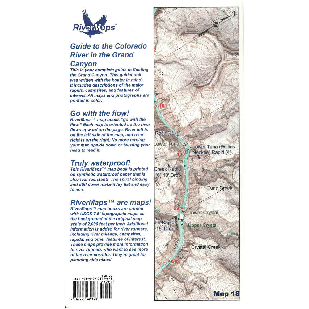 Crystal Colorado Map.Rivermaps Colorado River In The Grand Canyon 7th Ed Guide Book At