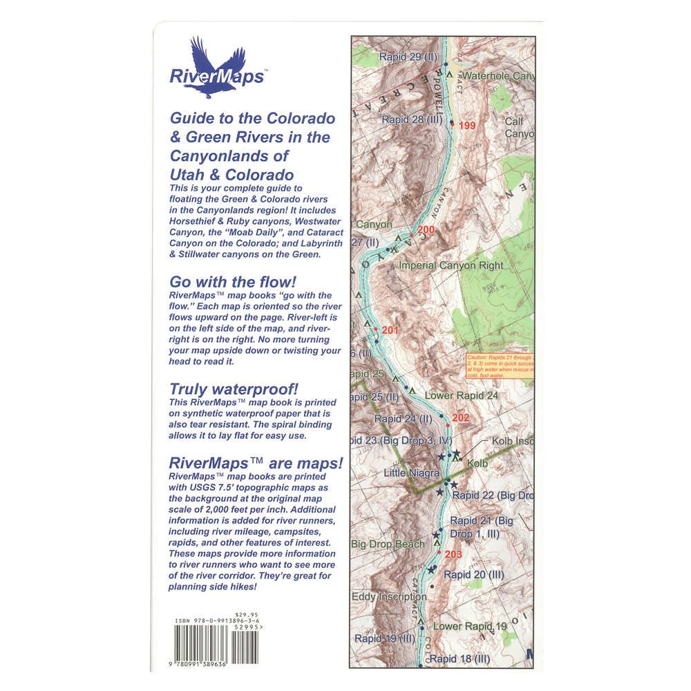 RiverMaps Colorado & Green Rivers in the Canyonlands Guide Book at nrs.com