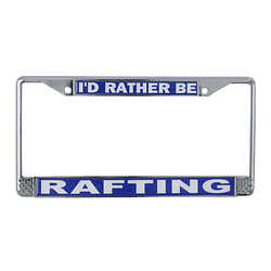 Rafting License Plate Frame