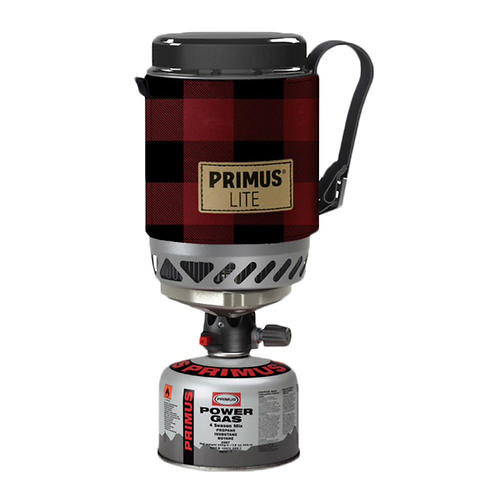 primus eta lite compact outdoor stove - closeout- Save 25% Off - The Primus Eta Lite sets a new standard for compact all-in-one stoves. Perfect for a solo trip, the stove and all accessories fit into the 500 ml hard-anodized aluminum pot.   The unique locking mechanism makes it very sturdy.  Thanks to the Laminar Flow Burner Technology, the stove has a lower burner than would otherwise be possible, resulting in a more stable, lighter and compact stove.  Eta Lite has an efficiency rate nearly double  of a conventional stove, so you can bring less fuel or stay out longer. You can get almost an hour burn from a 3 ounce/100 gram gas canister.  It comes with an insulating heat-resistant sleeve with felt lining.  Boils a half-liter of water in 2 minutes 45 seconds.  The sleeve features a webbing handle that also allows the stove to be used hanging.   The lid cuts cooking time and keeps all the parts securely in place, and can also be used as a mug.  Includes a foot support for added stability on uneven surfaces and a suspending cord.  Does not include fuel canister.