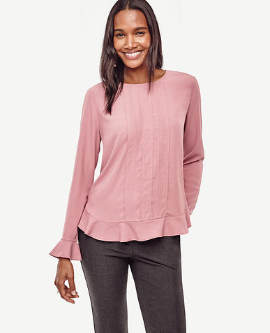 Image of Bell Sleeve Blouse color Rosalie Pink