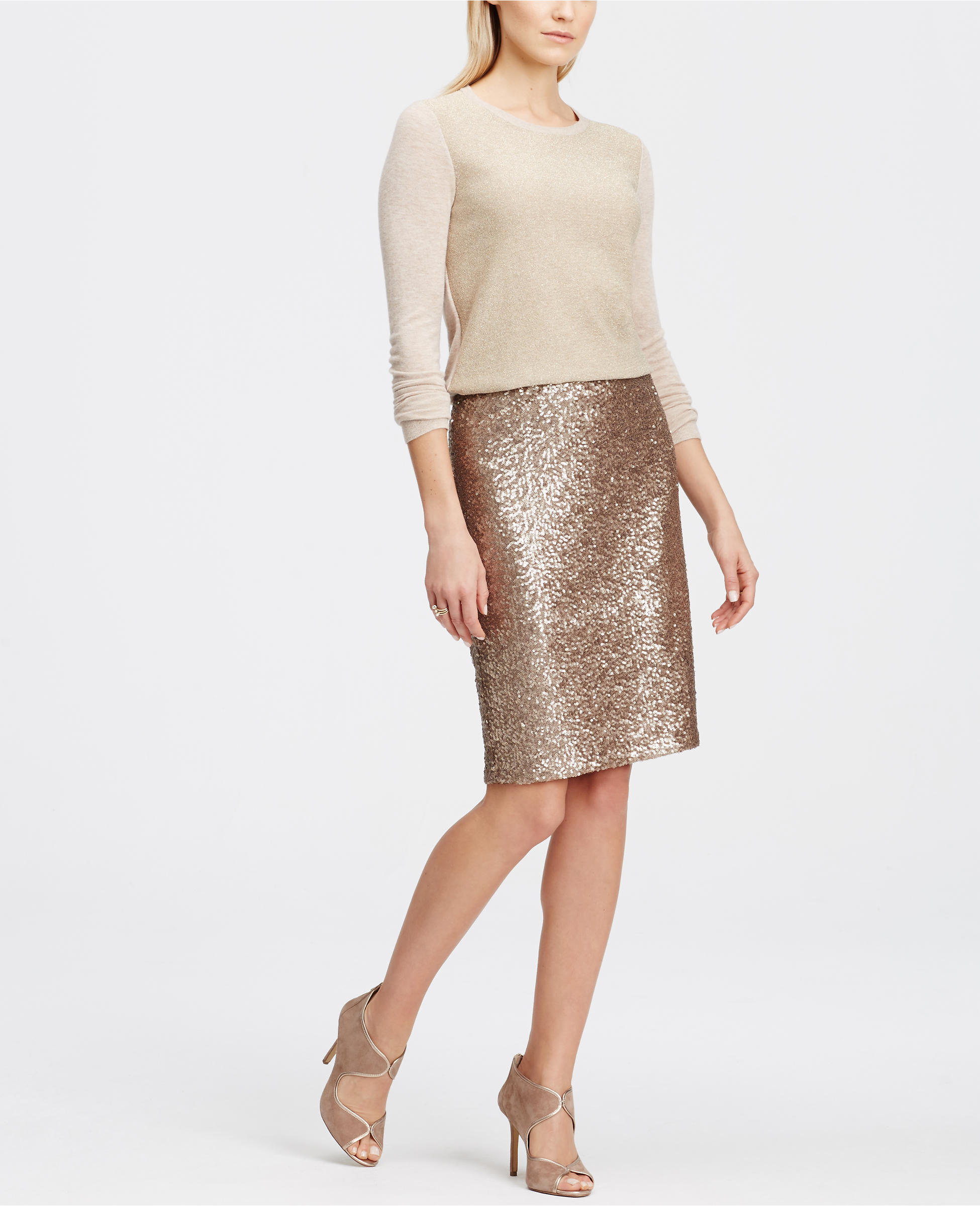 Gold sequin pencil skirt - on sale for $64.50!