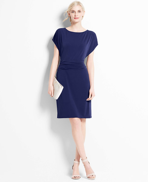 Ann Taylor Crepe Dolman Sleeve Dress, Indigo Ink - Extra ExtraSmall