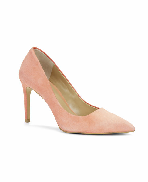 Ann Taylor Kylie Suede Pumps, Blooming Rose - Size 7