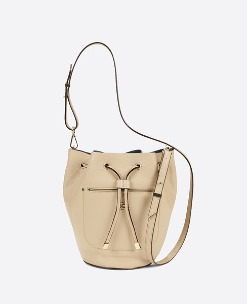 Ann Taylor Signature Mini Bucket Bag, Pale Camel - One Size