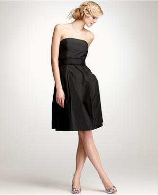Silk Taffeta Strapless Bridesmaid Dress