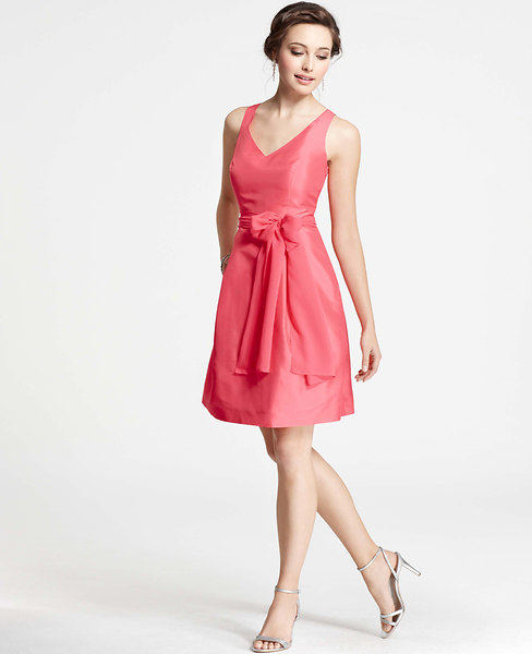 Bridesmaid dresses and guest dresses on sale at ann taylor ann taylor silk duponi strapless dress junglespirit Image collections