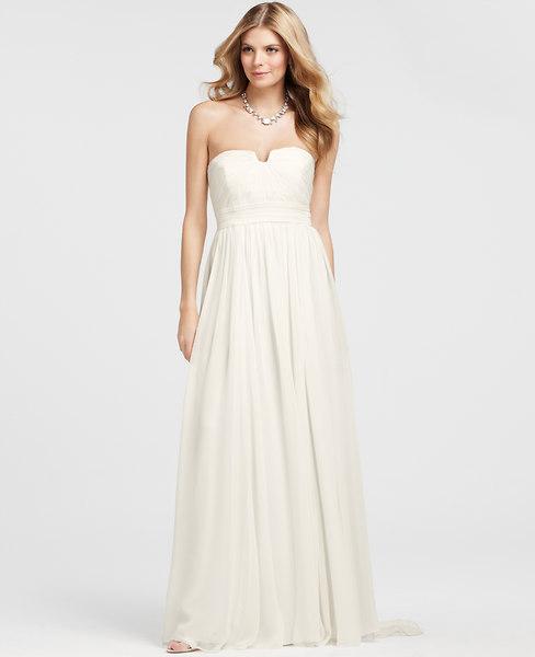 Vintage Silk Strapless Wedding Dress