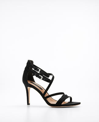 Strappy Silk Shantung Sandals