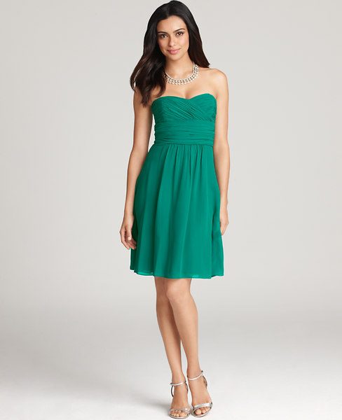 Bridesmaid dresses and guest dresses on sale at ann taylor silk duponi v neck dress now 8988 junglespirit Image collections