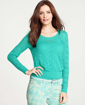 Floral Lace Stitched Sweater