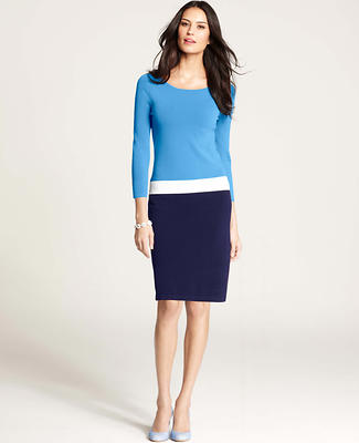 Colorblocked Sweater Dress