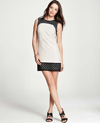 Eyelet Edge Shift Dress