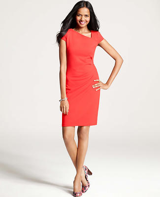 Side-Swept Sheath Dress