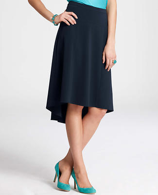 Crepe High Low Hem Skirt