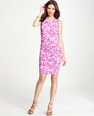 Windswept Floral Print Sleeveless Dress