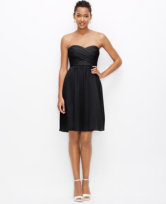 Silk Georgette Strapless Dress