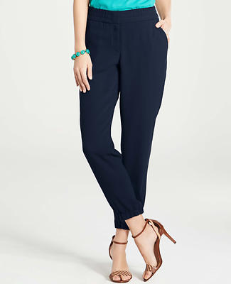 Draped Cropped Pants