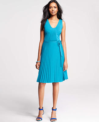 Pleated Jersey Tank Dress