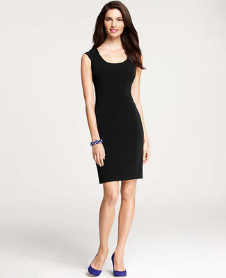 Triacetate Seamed Sheath Dress