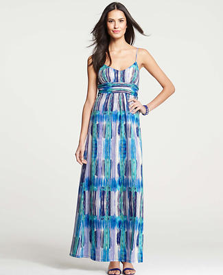 Ikat Striped Maxi Dress