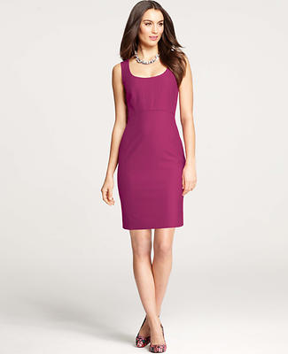 All-Season Stretch Seamed Sheath Dress